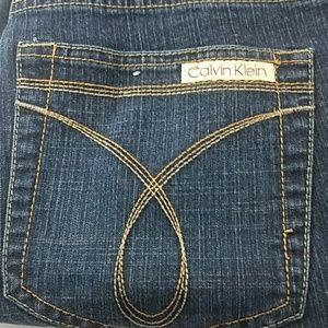 Calvin Klein Dark Wash Flare Blue Jeans